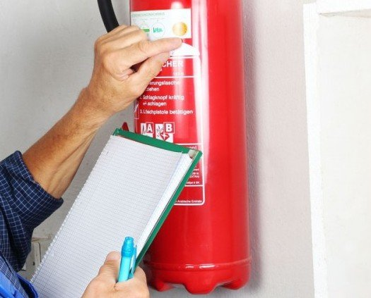 Extintores. Retirada de extintores