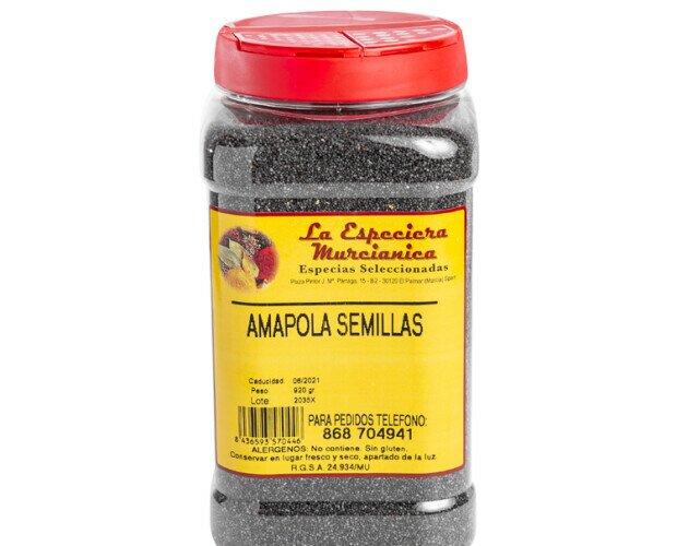 Semillas de amapola. Tienen un consumo muy extendido por todo el mundo.