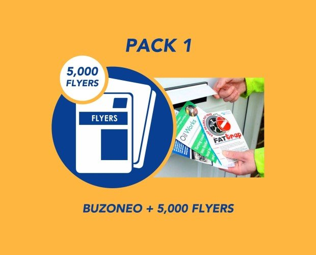 Pack 1. Buzoneo + 5000 Flyers A5