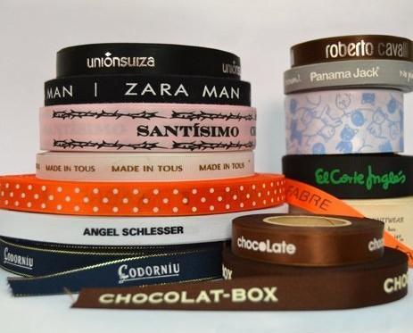 Cintas y Lazos.Personalización cinta raso,algodón,grosgrain
