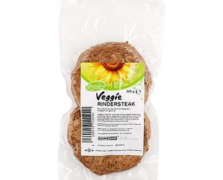 Filetes de Veggi-ternera. Dos grandes filetes veganos de proteína de soja, completamente vegetal.