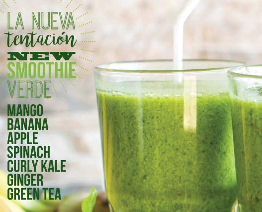 Smoothies verde. Saludable y delicioso