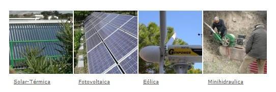 Energías renovables. Fotovoltáica, eólica, solar, hidráulica y LED