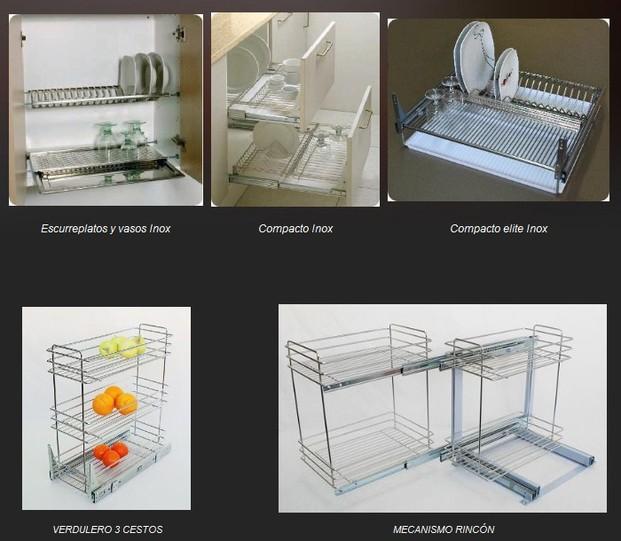 Accesorios cocina. Accesorios en electropulido de acero inoxidable