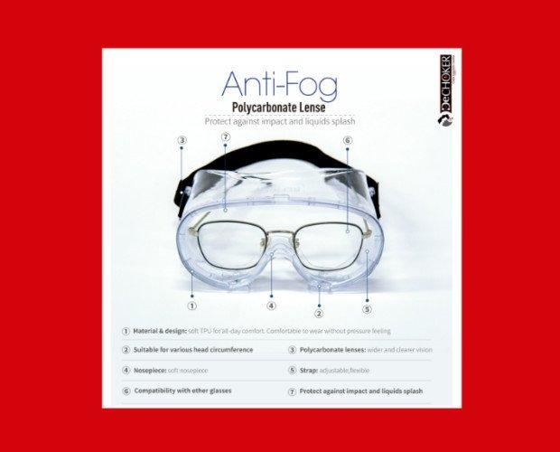 Gafas de Protección.Con tecnología anti-empañamiento