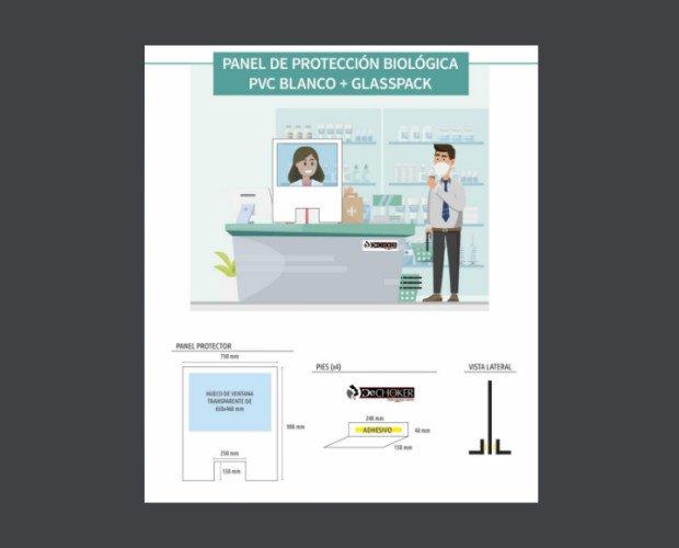Mampara Protectora Panel Mostrador. Para mostradores, farmacias, cajeros, supermercados, tiendas, etc