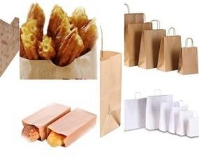 Bolsas de papel. Bolsas de papel para hosteleria