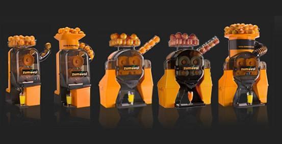 Exprimidores de naranjas. Desde 15 hasta 45 naranjas por minuto