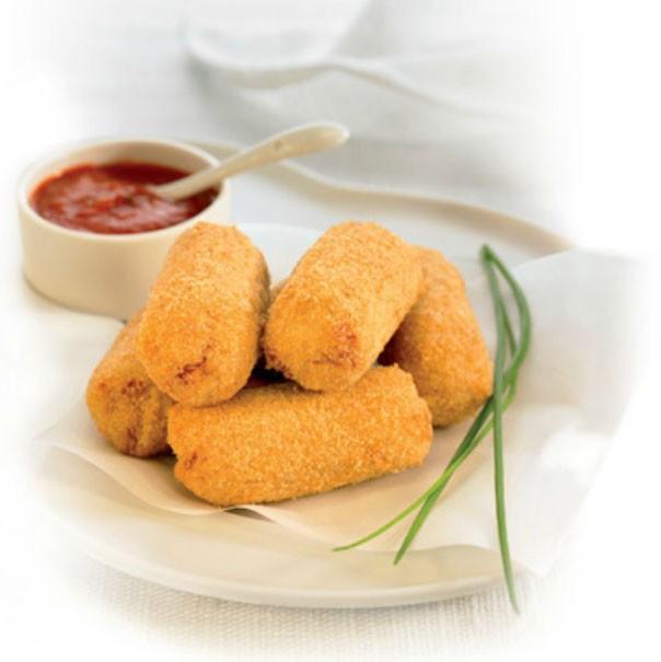Croquetas Precocinadas.También tenemos nuggets de pollo y de queso
