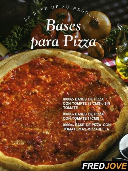 Base para pizzas. De 29 y 17 cm, con o sin salsa