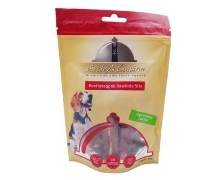 Beef Wrapped Rawhide Stix. Perfectas para entretener al perro