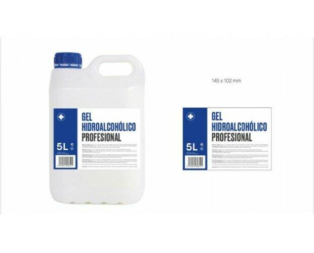 Gel hidroalcohólico de manos. Limpieza e higienización de las manos con acción bactericida y antivírica.