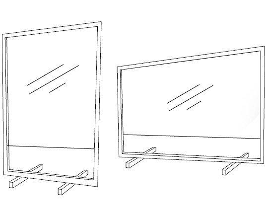 Mampara Aluminio. Mampara/Pantalla de seguridad de Aluminio. Disponibles con o sin Ventanilla.