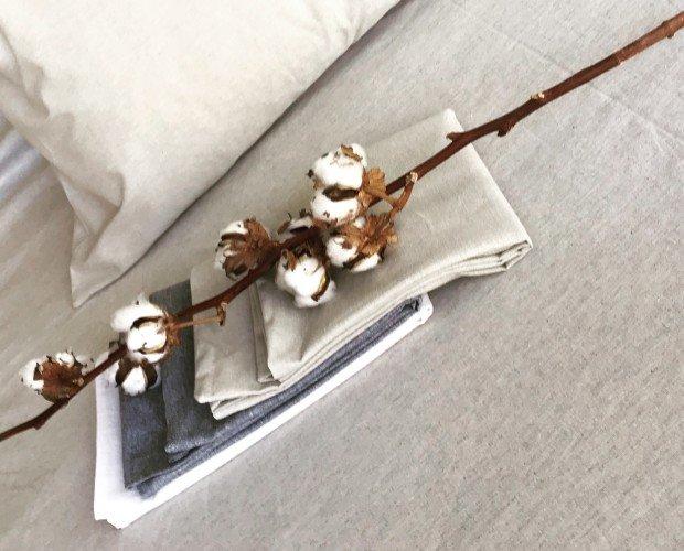 Tula Denim Alu. Kit paraalmohadas, fabricada con telas algodón reciclado