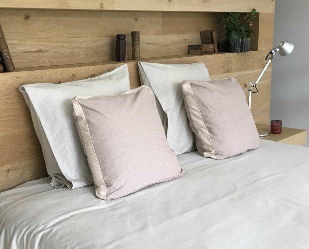 Juego de sábanas. Fundas, sabanas, almohadas todo en algodón reciclado