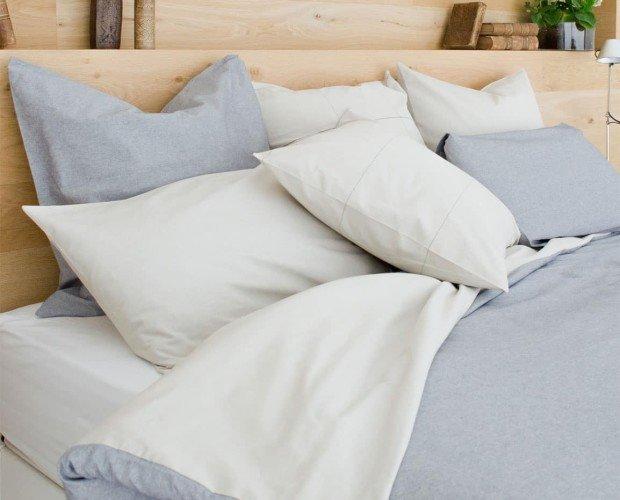 Almohadas de Tula. Su proceso de fabricación ahorra 4.000 litros de agua.