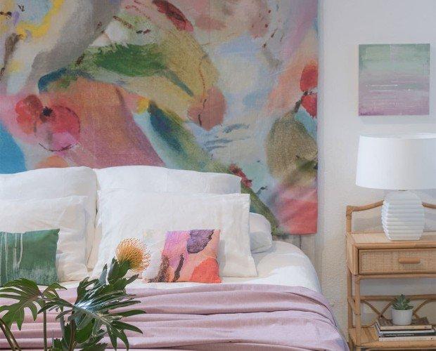 Almohadas de colores artísticos. Producción 100% ética y local