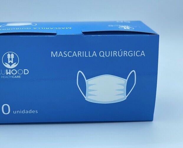 Mascarillas quirurgicas llR. Mascarillas quirúrgicas llR. Certificadas por Aitex. Fabricadas España