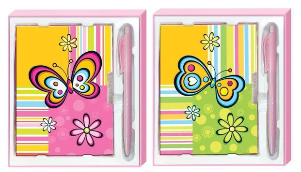Set diario y bolígrafo. Kit de regalo