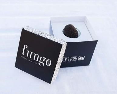 Trufas.Su interior es negro (gleba) con venas ramificadas de color blanco.