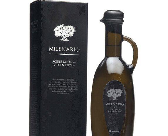 Aceite de oliva milenario. Este aceite de oliva ha sido extraído de olivos centenarios.
