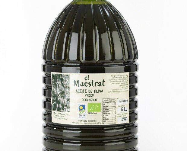 Aceite de oliva virgen ecológico. Aceite de oliva virgen ecológico de 5 l.