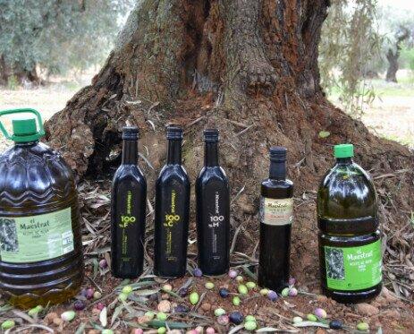 Variedad de aceites. Nuestro aceite se extrae de los olivos de Canet lo Roig
