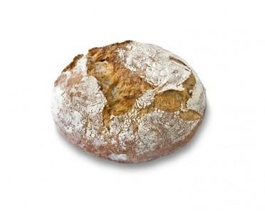 Pan redondo BIO. Pan redondo de greña natural con corteza crujiente