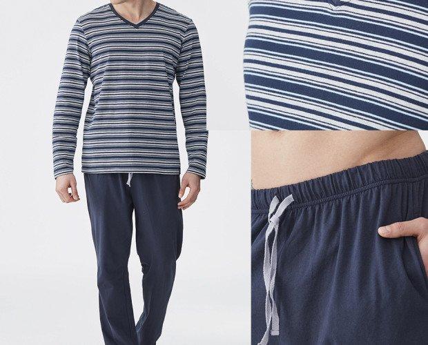 Pijama de hombre. Pijama de hombre 100% algodón