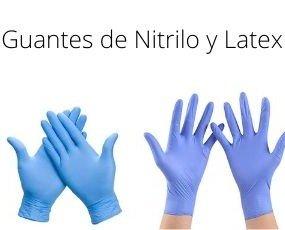 Guantes Nitrilo. Guantes de nitrilo y látex Tallas disponibles M y L