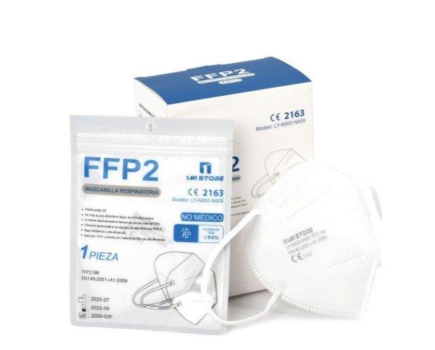 Mascarillas FFP2 Blanca Homologada. Certificadas CE Homologadas para la nueva normativa FFP2