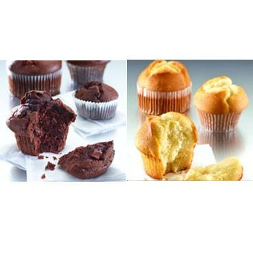 Muffins. Muffins naturales y de chocolate