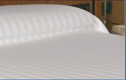 Colchas de satén listado. 100 algodón, 260 cm de ancho