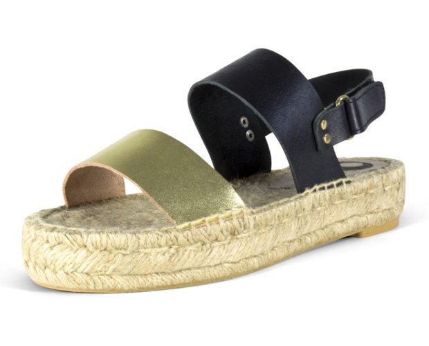 Cómodo calzado. Sandalia en piel vaquetilla de alta calidad.