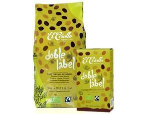 DobleLabel. Fairtrade y de cultivo orgánico. 1kg grano y 250g