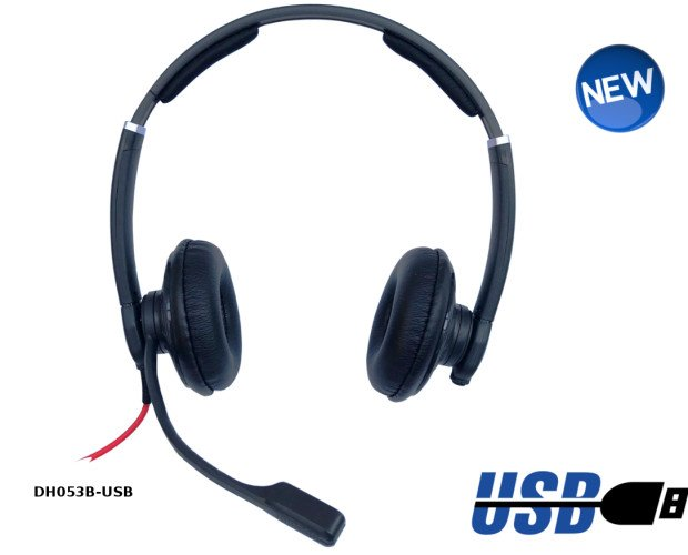 Auriuclares DH053B USB. Auricular USB Comunicaciones Unificadas.