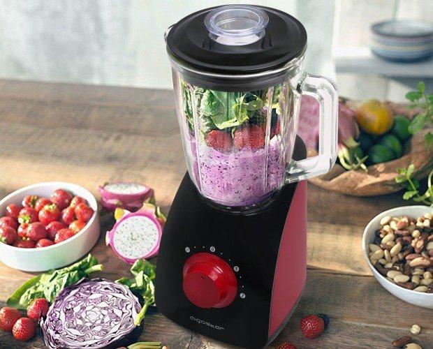 Batidora 750w 02. Materiales de calidad alimentaria;Libre de BPA;4 Cuchillas De Acero Inoxidable;2 niveles de velocidad + Botón