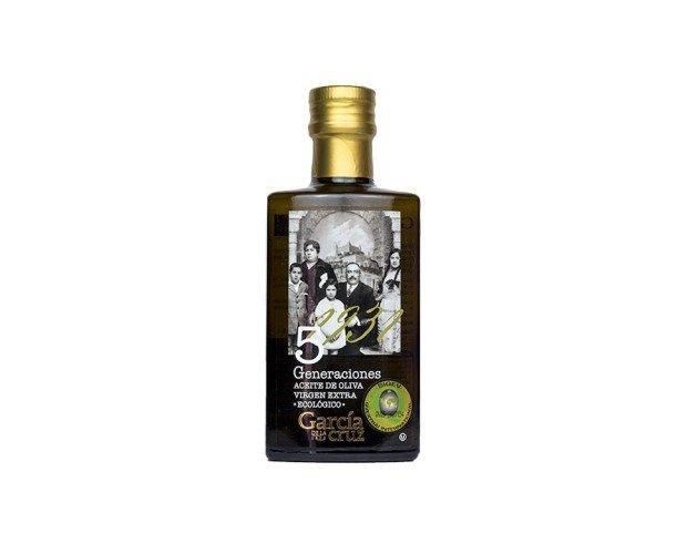 AOVE 5 Generaciones. Obtenido de olivos de Castilla La Mancha mediante procedimientos mecánicos