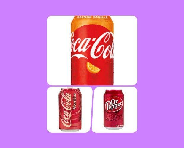 Refrescos de Marcas Clásicas.Coca Cola Vainilla y Dr Pepper Original
