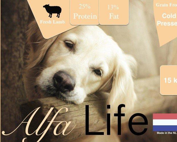 Alfa Life Cordero. Pienso de cordero pensado en frío para preservar sus nutrientes