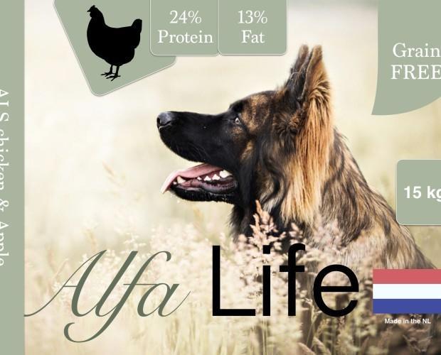 Alfa Life Pollo. Pienso natural, libre de cereales