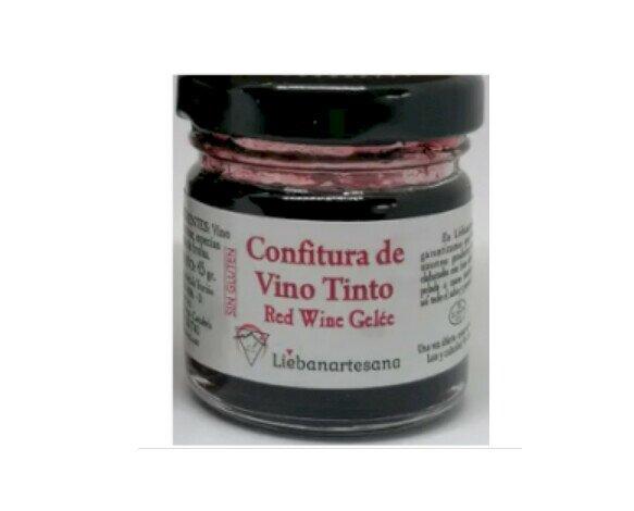 Confitura de Vino Tinto. Caja con 6 tarros de 200g de confitura de vino tinto elaborada de forma artesanal