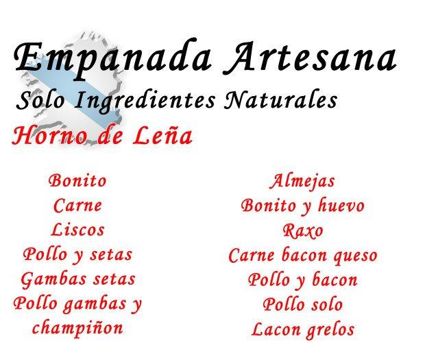 Empanadas Artesanales.Nuestros productos