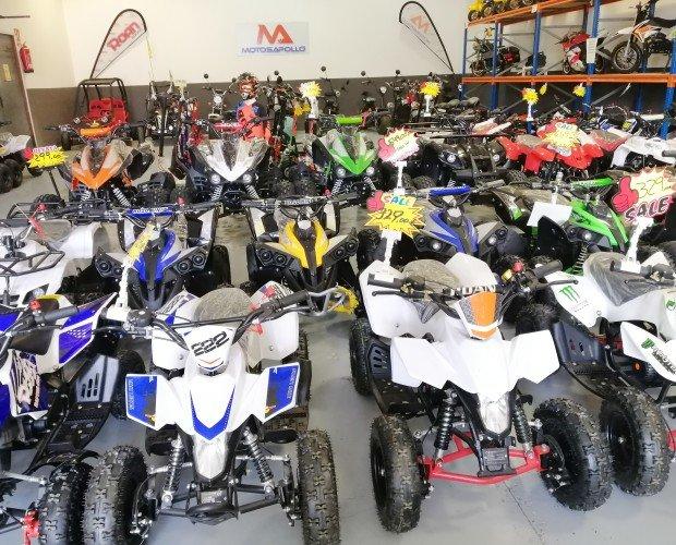 Motos.Miniquad entre 49cc a 125cc con motor de 2 tiempos y 4 tiempos