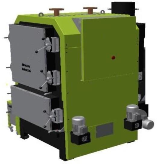 Diseño de Maquinaria.Cuerpo de Caldera a Biomasa policombustible