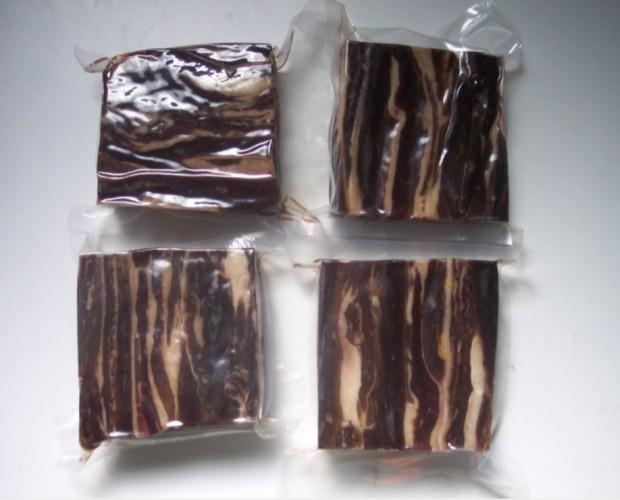 Carne seca brasileña. Carne seca brasileña salada y envasada