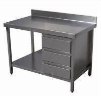 Mesas y Encimeras. Mesas de trabajo, frías y calientes