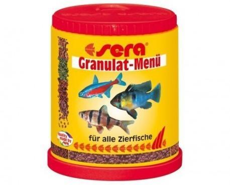 Menú granulado Sera para peces. Alimento para peces de aguas intermedias e inferiores