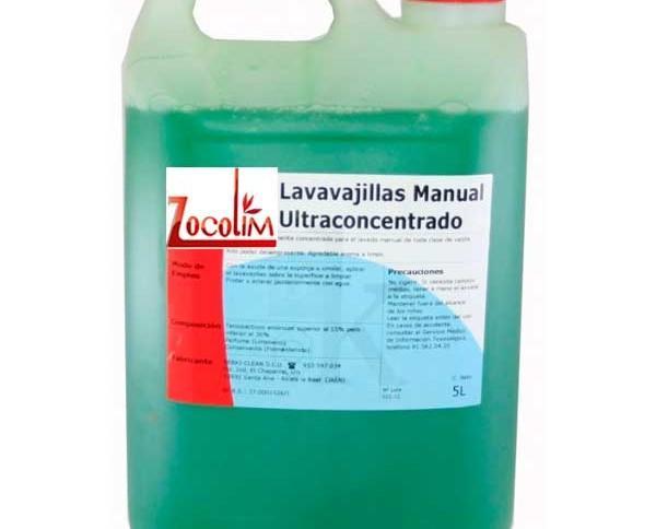 Lavavajillas manual. Altamente concentrado para el lavado manual de todo tipo de cubertería y cristalería