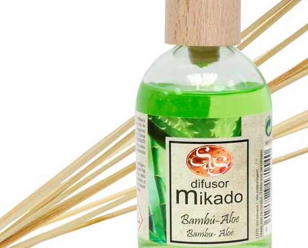 Ambientador mikado. Bambú-Aloe Vera